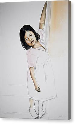 Panama Girl Canvas Print