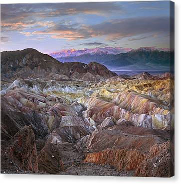 Panamint Valley Canvas Print - Panamint Range From Zabriskie Point by Tim Fitzharris
