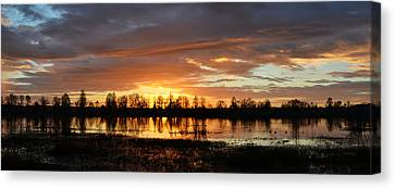 Panaroma Sunrise 02092015 Canvas Print