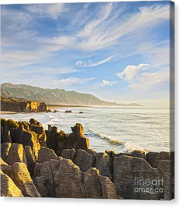 Blowhole Canvas Print - Pancake Rocks Dolomite Point Punakaiki New Zealand by Colin and Linda McKie