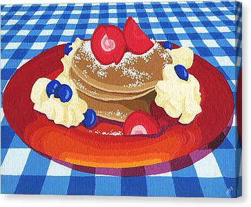 Canvas Print featuring the painting Pancakes Week 10 by Meg Shearer