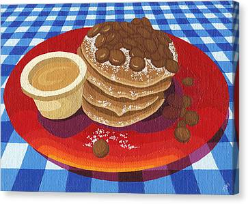 Chocolate Canvas Print - Pancakes Week 4 by Meg Shearer