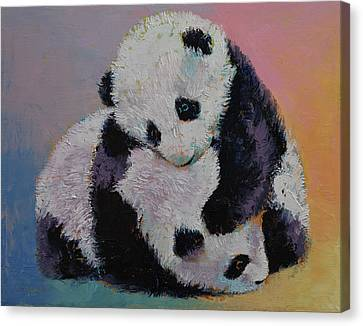 Michael Canvas Print - Baby Panda Rumble by Michael Creese