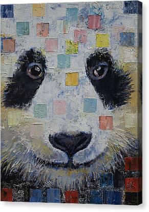 Panda Checkers Canvas Print