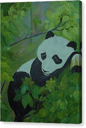 Panda Canvas Print by Christy Saunders Church