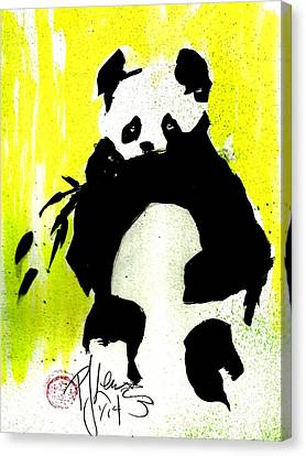 Panda Haiku Canvas Print by P J Lewis