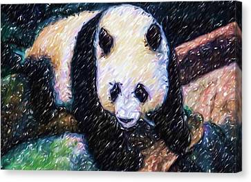 Panda In The Rest Canvas Print by Lanjee Chee