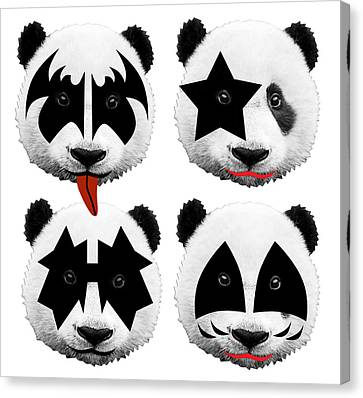 Panda Kiss  Canvas Print