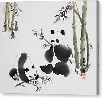 Panda  Canvas Print by Ping Yan