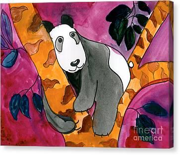 Panda Canvas Print by Roxanne Hanson Age Eleven