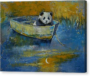 Panda Sailor Canvas Print by Michael Creese