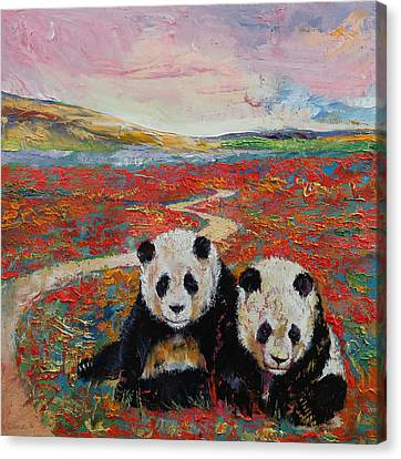 Panda Paradise Canvas Print by Michael Creese