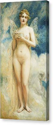 Pandora's Box Canvas Print by Leon Francois Comerre