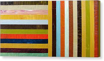 Panel Abstract L Canvas Print by Michelle Calkins