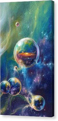 Pangaea Cropped Canvas Print by Kd Neeley