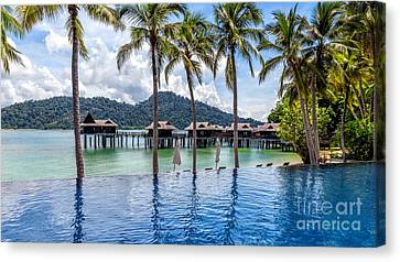 Pangkor Laut Bay Canvas Print by Adrian Evans