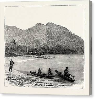 Pango Harbour, Samoan Islands Canvas Print by Samoan School