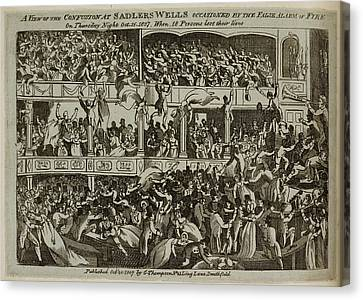 Occur Canvas Print - Panic At Sadlers Wells Theatre by British Library