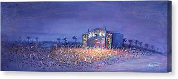Panic El La Playa Widespread Panic Canvas Print by David Sockrider