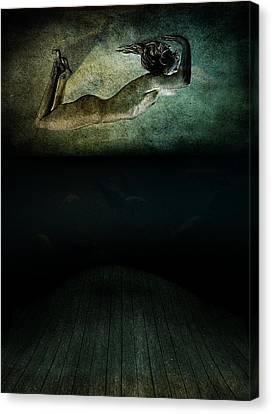 Modern Digital Art Digital Art Canvas Print - Panic by Johan Lilja