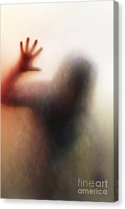 Panic Silhouette Canvas Print