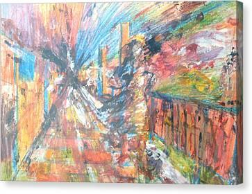 Terrorist Canvas Print - Panic Stricken by Esther Newman-Cohen