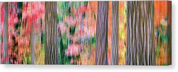 Panning Time Exposure Turns An Autumn Canvas Print by Panoramic Images
