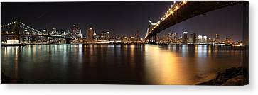 Pano Manhattan Large Canvas Print by Paslier Morgan