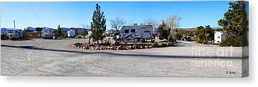 Panorama Cedar Cove Rv Park Street 2 Canvas Print by Roena King