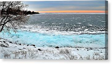 Panorama Freeze - Horsey Bay - Kingston - Canada Canvas Print