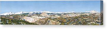 Panorama From Flagstaff Mountain Canvas Print by Anne Gifford