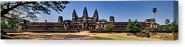 Canvas Print featuring the photograph Panorama - Hi-res - National Heritage In Angkor Wat Cambodia by Afrison Ma