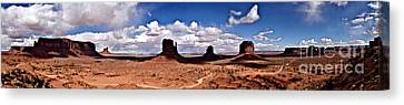 Panorama - Monument Valley Park Canvas Print