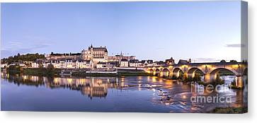 Panorama Of Amboise Loire Valley France Canvas Print
