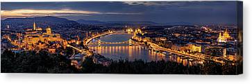 Panorama Of Budapest Canvas Print by Thomas D M?rkeberg