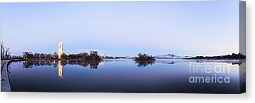 Canberra Canvas Print - Panorama Of Canberra Australia by Colin and Linda McKie