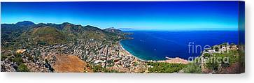 Panorama Of Cefalu Canvas Print by Stefano Senise