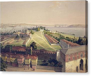 Panorama Of Constantinople, Plate 22 Canvas Print by Gaspard Fossati