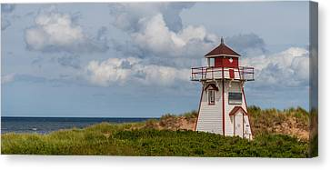 Panorama Of Covehead Lighthouse In Stanhope Canvas Print by Vadim Petrov