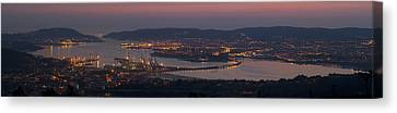 Canvas Print featuring the photograph Panorama Of Ferrol From Mount Marraxon Galicia Spain by Pablo Avanzini