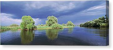 Flooding Canvas Print - Panorama Of Lakes And Channels by Martin Zwick