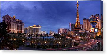 Panorama Of Las Vegas Canvas Print by Silvio Ligutti