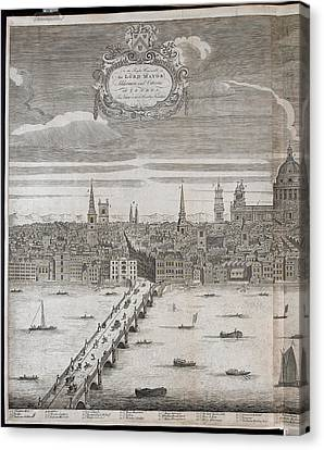 Panorama Of London Canvas Print by British Library