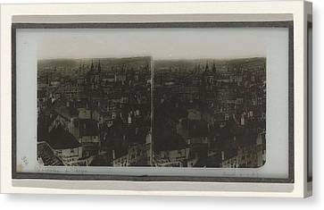 Panorama Of Prague, May Possibly Ferrier Pere Et Fils Canvas Print