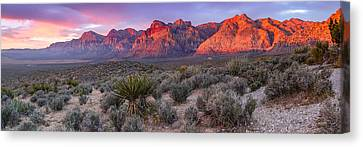Panorama Of Rainbow Wilderness Red Rock Canyon - Las Vegas Nevada Canvas Print
