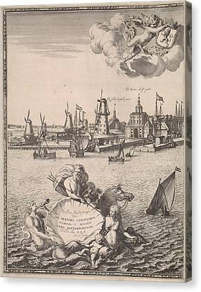 Panorama Of Rotterdam, The Netherlands, Jan Houwens Canvas Print by Jan Houwens (i) And Jacob Quack