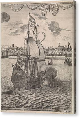Panorama Of Rotterdam, The Netherlands, Print Maker Canvas Print by Joost Van Geel And Jan Houwens I