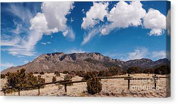 Panorama Of Sandia Mountains From Elena Gallegos Picnic Area - Albuquerque New Mexico Canvas Print