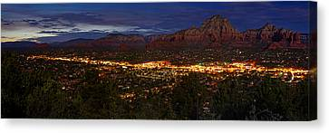 Panorama Of Sedona Red Rocks Arizona Canvas Print by Silvio Ligutti