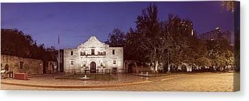 Panorama Of The Alamo At Dawn - San Antonio Texas Canvas Print